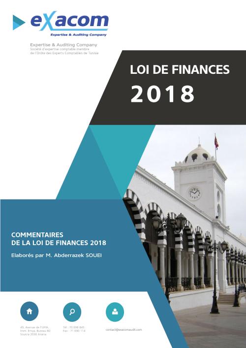 Commentaires loi de finances tunisie 2018
